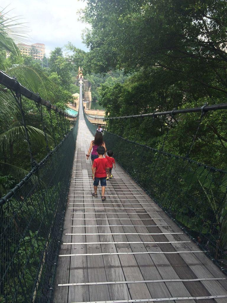Sunway Lagoon Suspended Bridge 1
