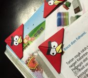 Angry bird bookmark diy 17