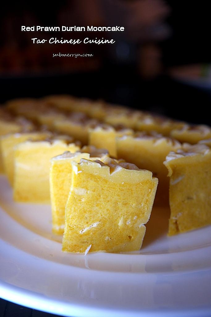 Red Prawn Durian Mooncake Tao Chinese Cuisine 1