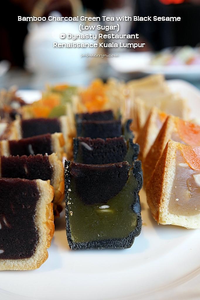 Charcoal green tea black sesame dynasty renaissance