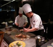 Live teppanyaki cooking