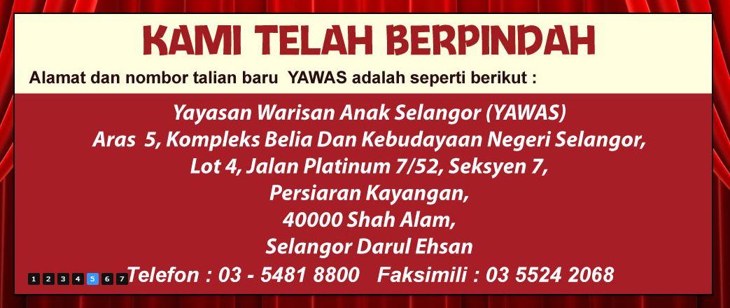 alamat baru TAWAS