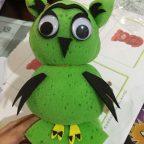 Sponge owl craft