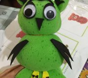 Sponge owl craft